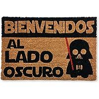 KOKO DOORMATS felpudos Entrada casa Originales, Fibra de Coco y PVC, Felpudo Exterior Bienvenido al Lado Oscuro, 40x60x1…