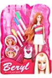 SuperToy Fashion Doll Hair Color & Design Salon Set with Accessories Toy Set for Girl