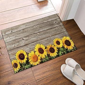 gohebe Blume Decor Sonnenblume auf der Holz Badewanne Teppiche ...