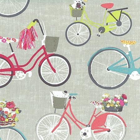 Tela de algodón estampada Las bicicletas más bellas de la ciudad ...