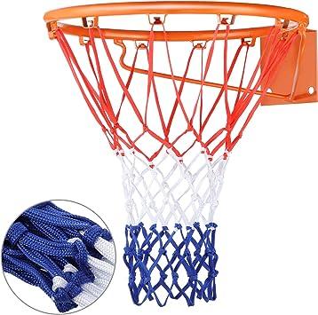 Hsei Filet de Basketball Lourd Filet de Basketball Tout Temps de Remplacement Convient à l'Intérieur ou à l'Extérieur Standard, 12 Boucles