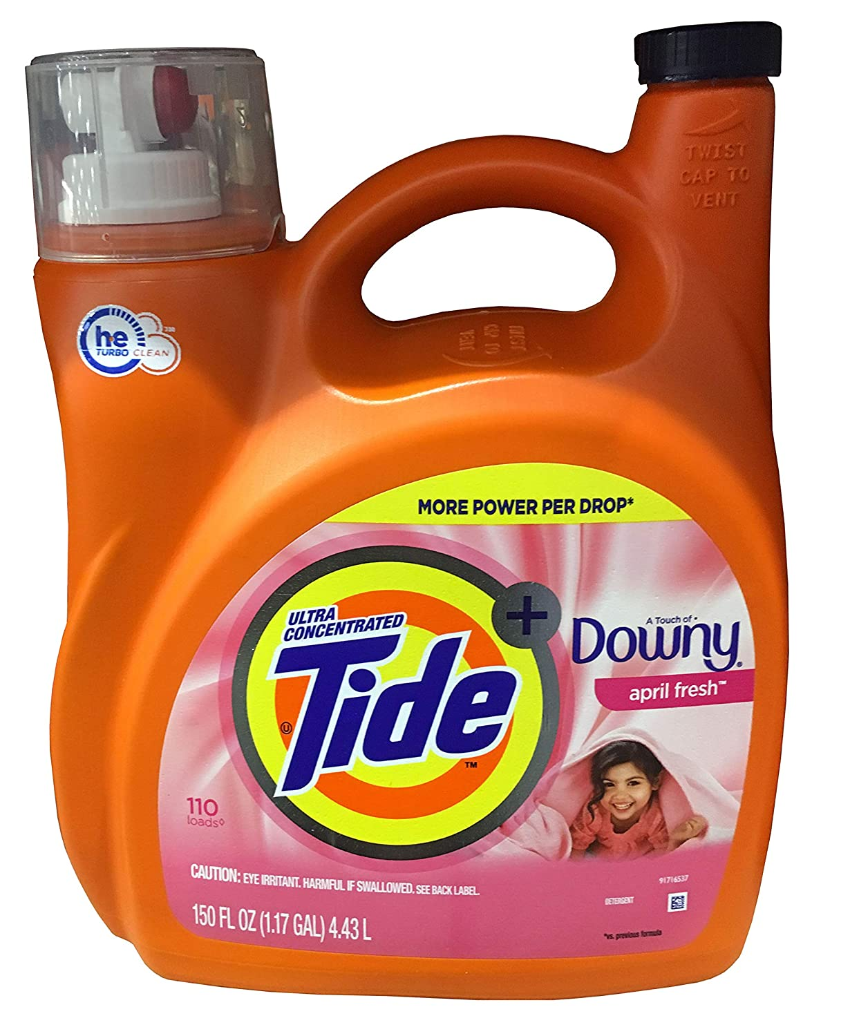 Tide He With Downy 110 loads/ 150 Fl Oz, 150 fl. oz.