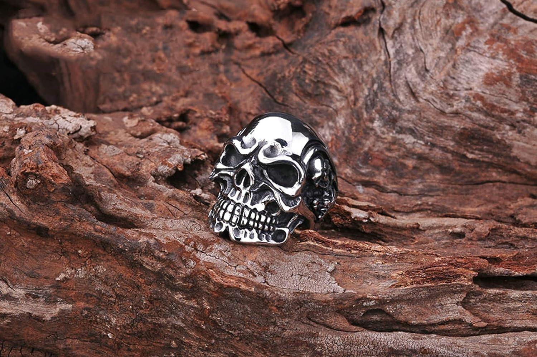 Aooaz Acier Inoxydable Bague Bague Skulls Bague Vintage Homme R/étro Argent Homme Biker Anneau Retro Bague Anneau Classique