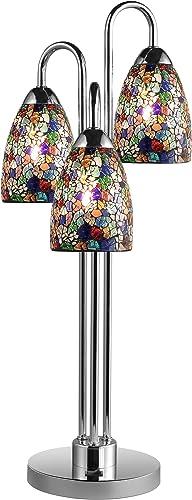 Woodbridge Lighting 13283CHR-M20MTC Venezia 3-Light Table Lamp
