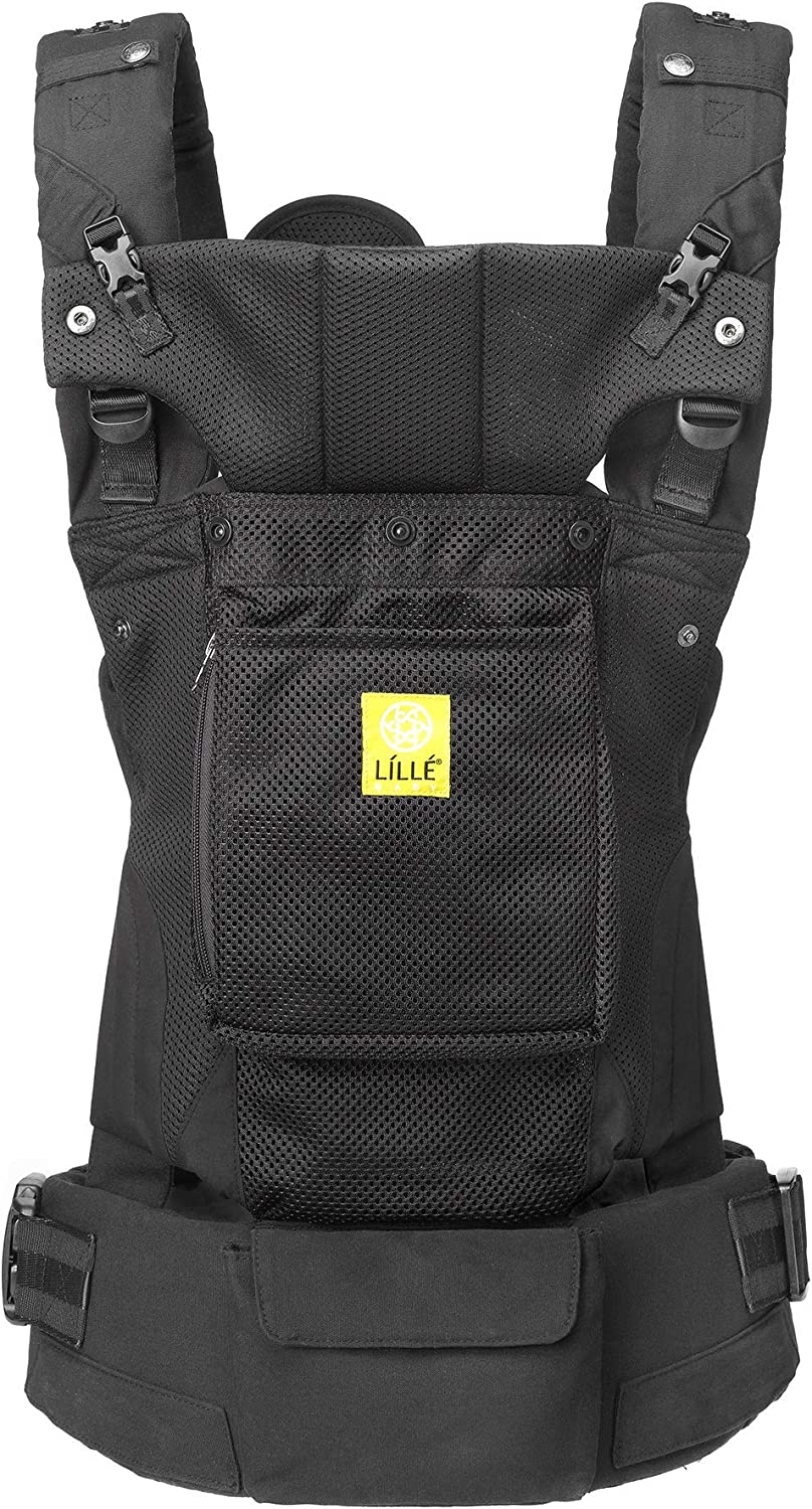 Cotton L/ÍLL/Ébaby Serenity Airflow SIX-Position Ergonomic Baby /& Child Carrier with Convertible Tote Black