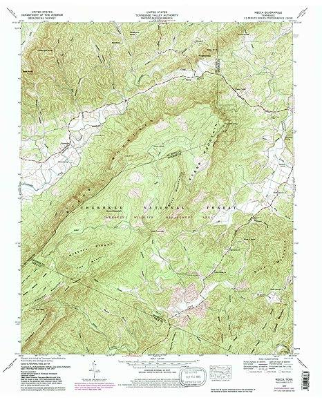 Amazon.com : YellowMaps Mecca TN topo map, 1:24000 Scale ...