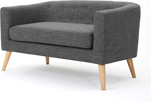 Christopher Knight Home Bridie Mid-Century Modern Loveseat