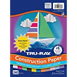 """Tru-Ray P6586 Construction Paper Smart-Stack, 9"""" x 12"""", 11 Assorted Colors, 240 Sheets"""