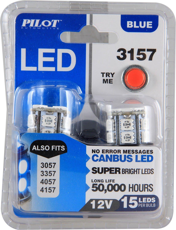 IL-3157B-15-AM Pilot Automotive Blue 15-SMD LED Turn//Tail Light Bulb 2 Piece
