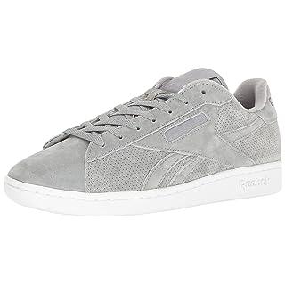 Reebok Men's NPC UK perf Fashion Sneaker, Flat Grey/White, 11 M US