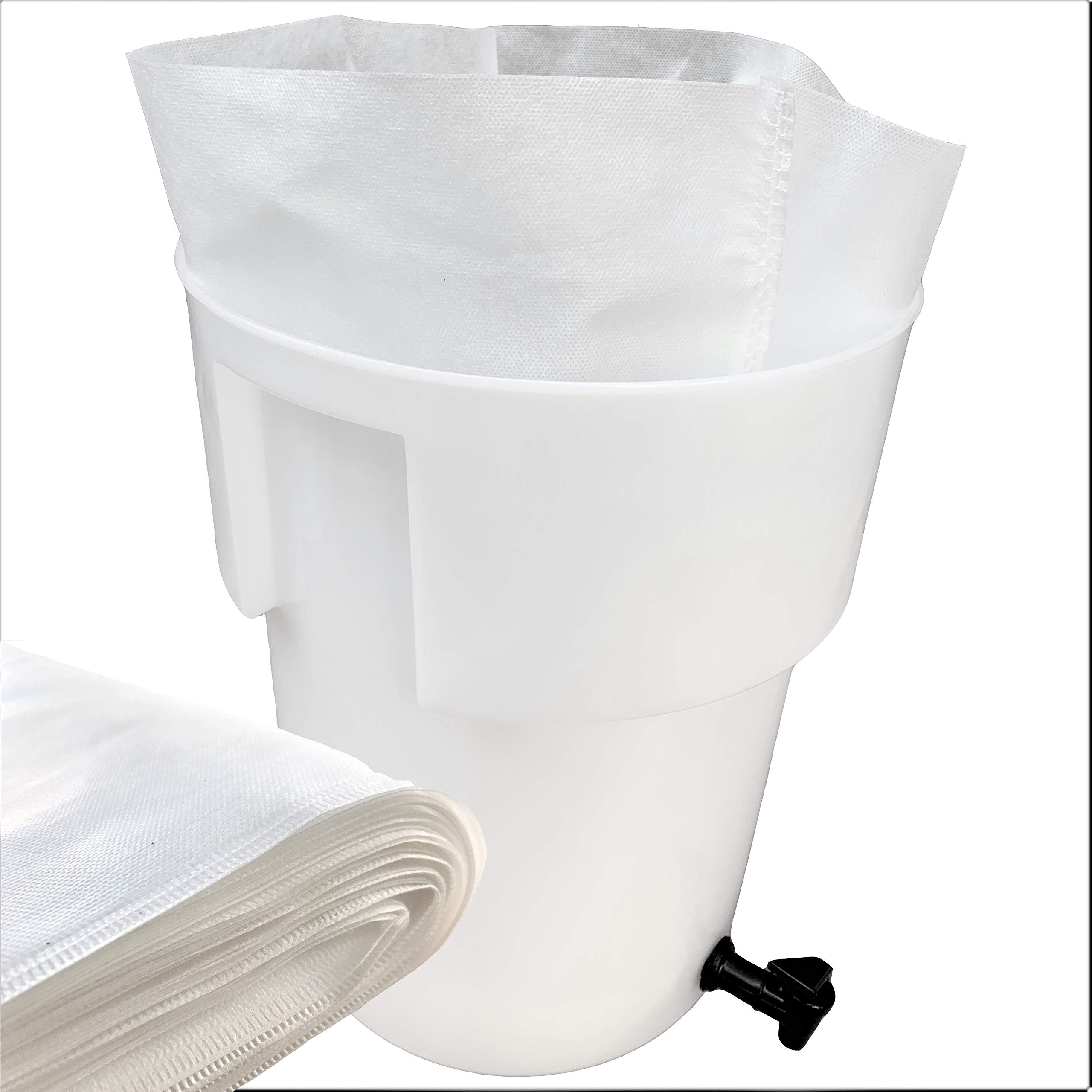 50 PACK Commercial Cold Brew Coffee Filter - Brew Commercially Like Starbucks - 20in x 20in Fits 5 Gallon Buckets by Tezpak