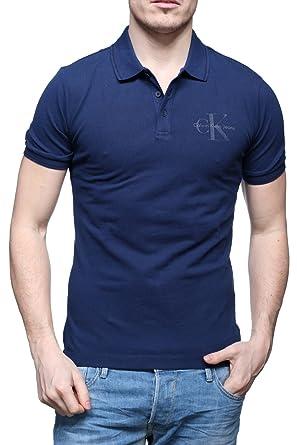 Polo Calvin Klein Jeans Pice Azul S Marino: Amazon.es: Ropa y ...