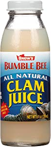 SNOW'S BY BUMBLE BEE All Natural Clam Juice, 8 Ounce Bottle (Pack of 12), Pure Bottled Clam Juice