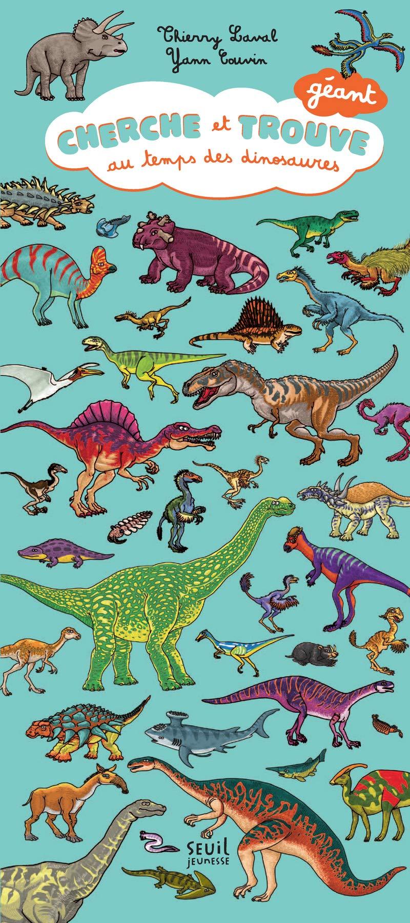 Amazon Fr Cherche Et Trouve Geant Au Temps Des Dinosaures