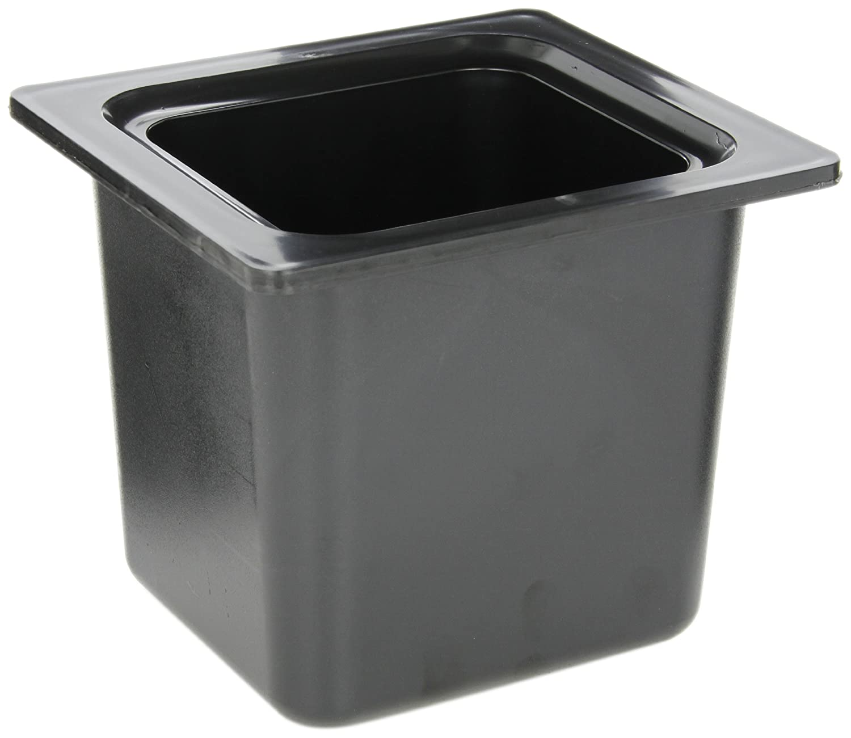 San Jamar CI7001 Chill-It 1/6 Food Pan, 52 oz Capacity, Black