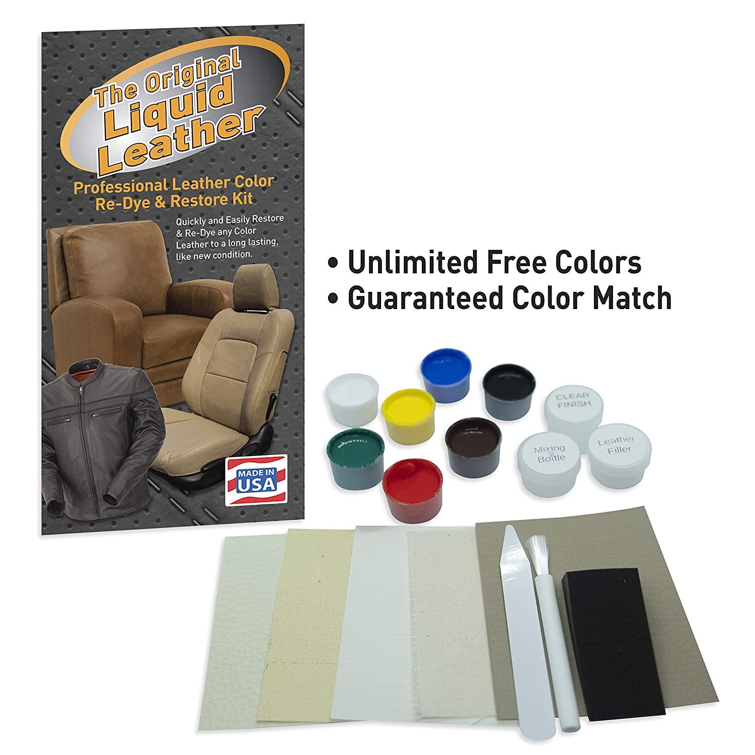 Amazon.com: Liquid Leather Kit de reparación de cuero y ...