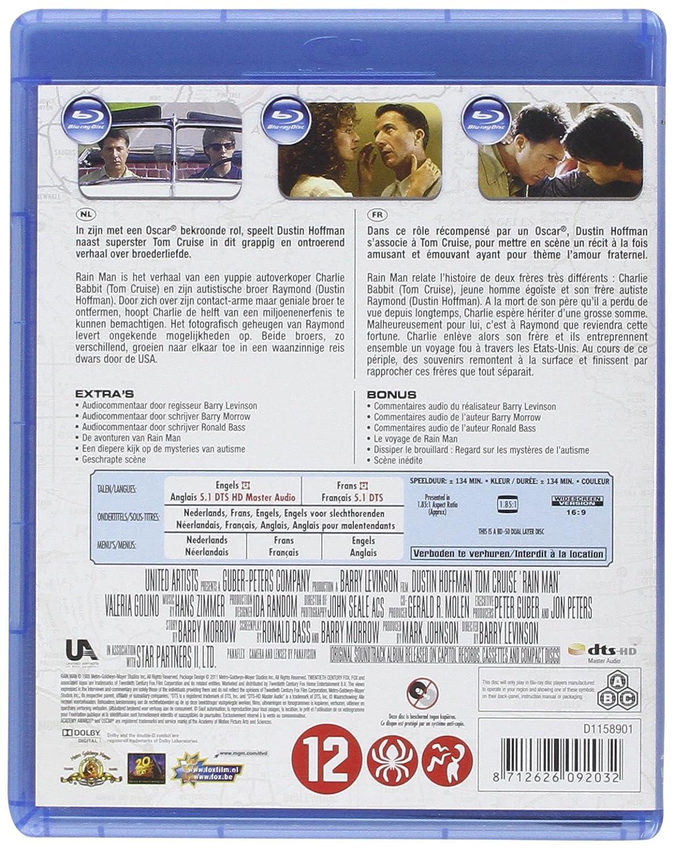 Rain Man [Blu-ray] [Import belge]: Amazon.es: Dustin Hoffman ...