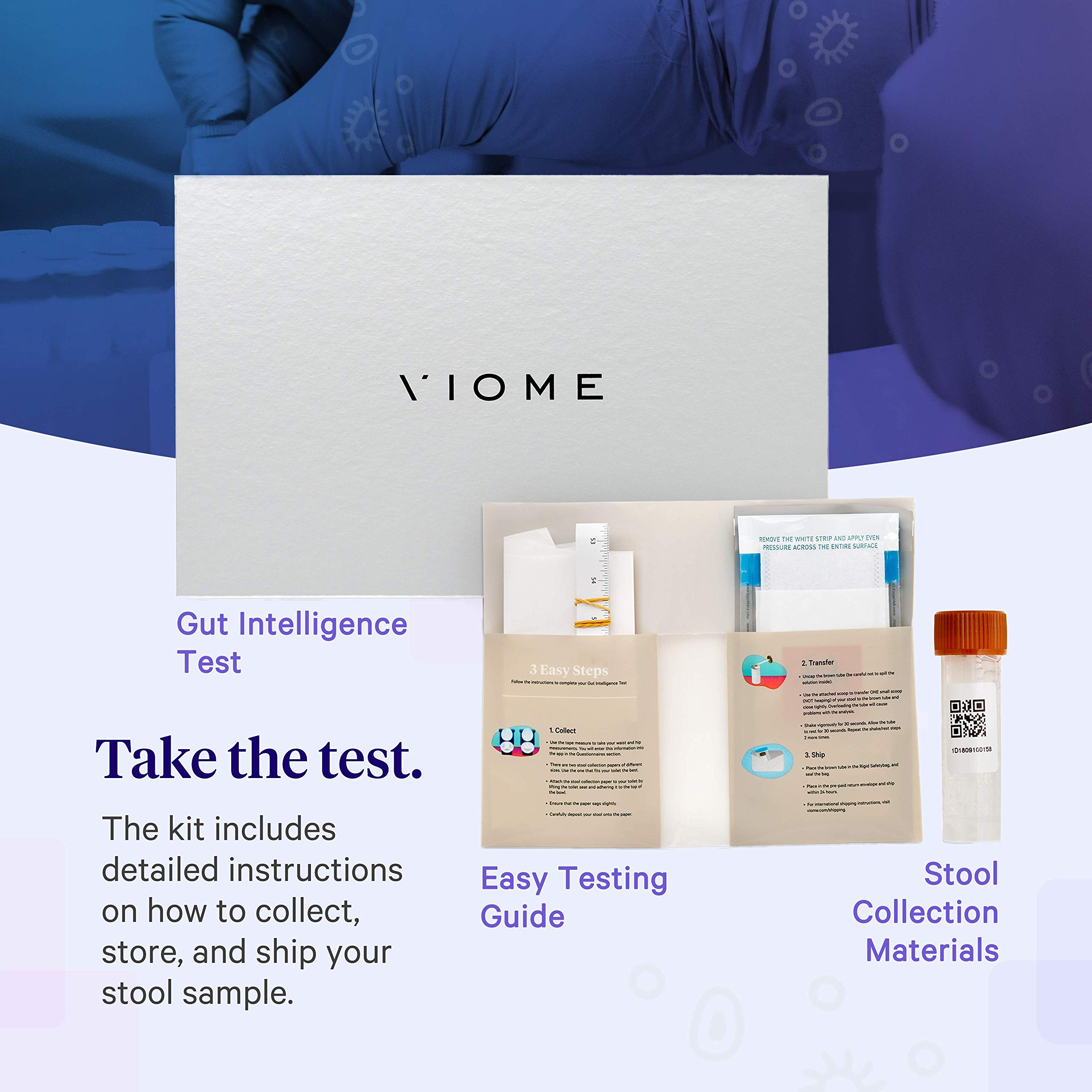 Viome at-Home Gut Microbiome Test   Science Based Personalized Recommendations for Food, Prebiotics & Probiotics   Weight Loss   Improve Digestion   Enhance Sleep   Clear Skin   Boost Mental Focus by Viome (Image #3)
