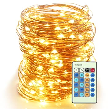 Moobibear 66ft Outdoor Dimmable LED String Lights Copper Wire Starry Lights  Firefly Lights Amazon Com Moobibear 66ft Outdoor Dimmable LED String Lights