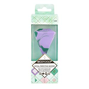 Ecotools Crystal Perfecting Makeup Sponge Blender, Beauty Sponge Ideal for Liquid Foundation