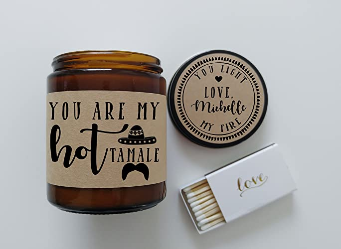 hot tamale valentines day gift for boyfriend gift funny valentine card candle message soy candle gift - Funny Valentines Day Gifts For Him