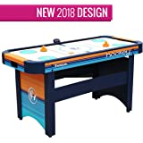 Harvil 5 Foot Air Hockey Table Kids Adults Dual Electric Blowers, Leg Levelers Free Pushers Pucks.