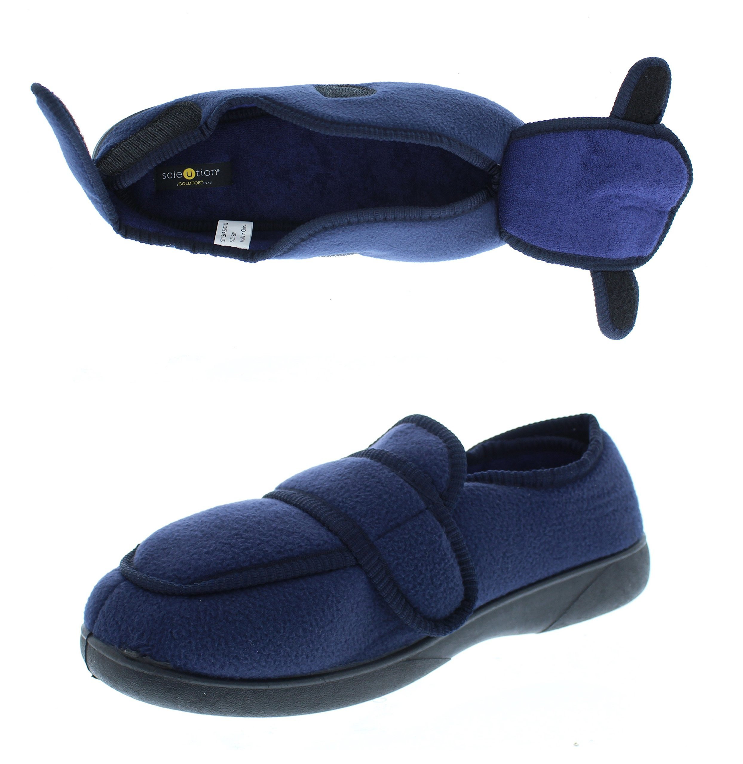 a27fd52aa Galleon - Gold Toe Jude Mens House Shoes Diabetes