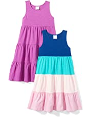68c2d71f Amazon Brand - Spotted Zebra Girls' Toddler & Kids 2-Pack Knit Sleeveless  Tiered