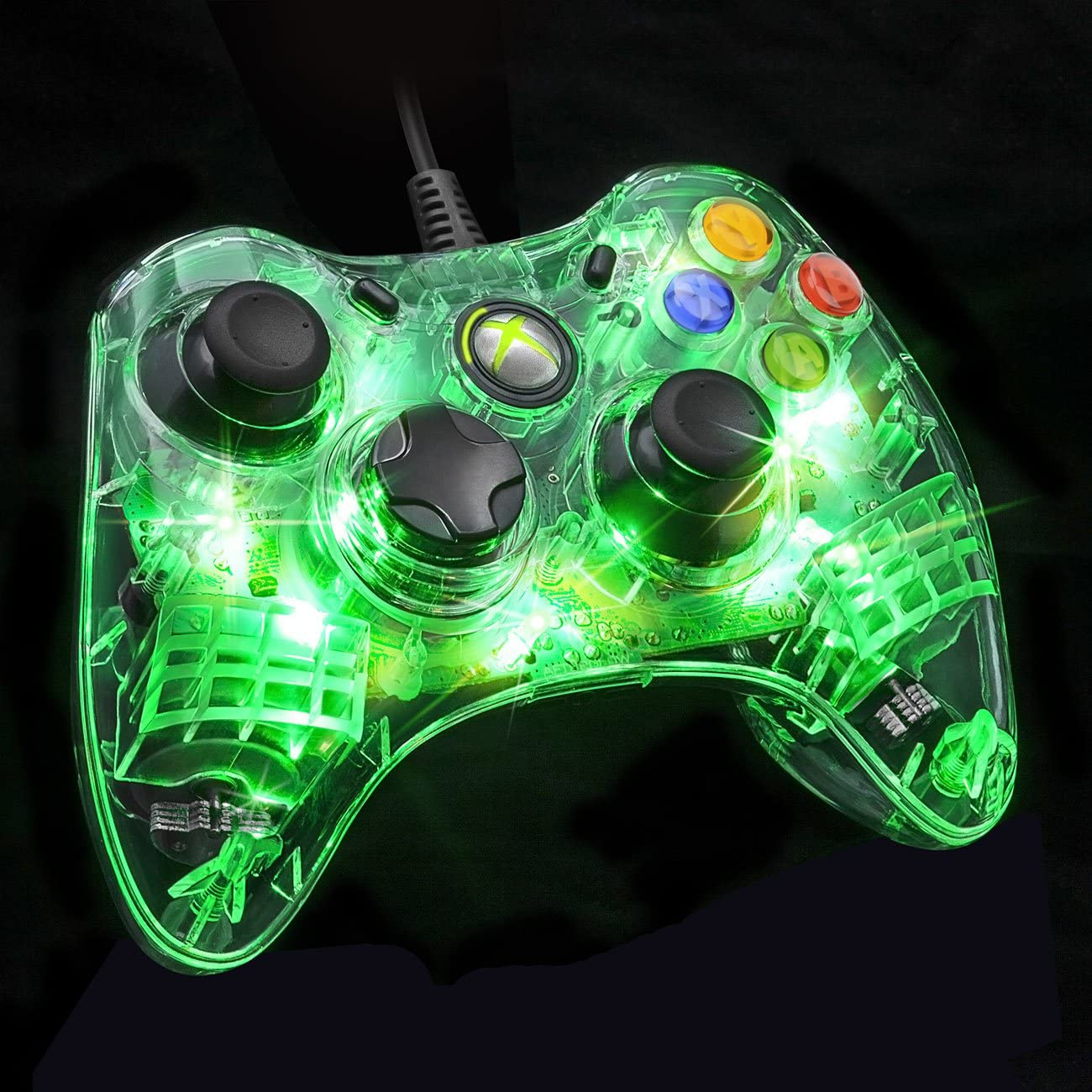 Amazon.com: Afterglow Wired Controller for Xbox 360 - Green: Video Games