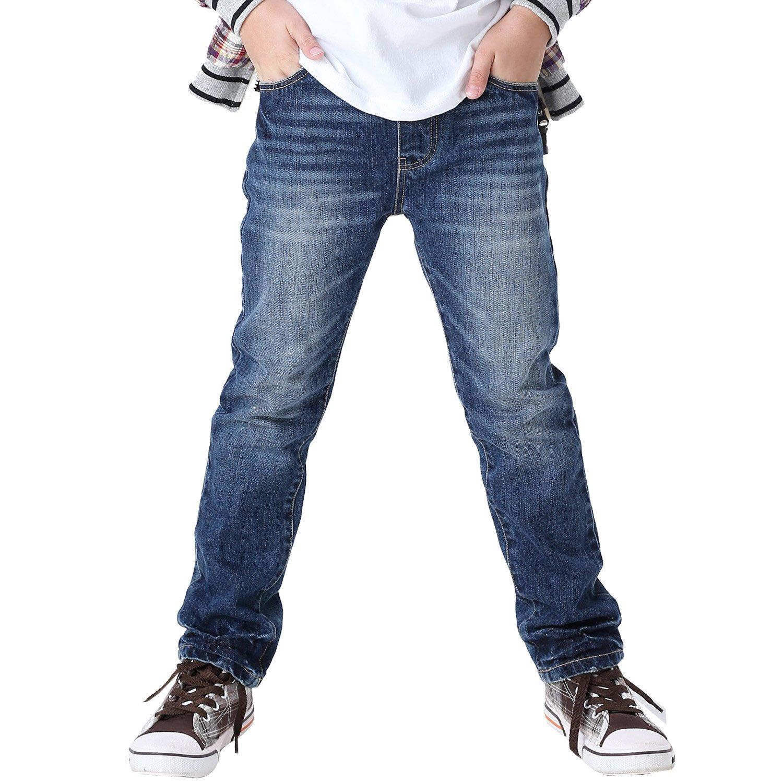 Leo&Lily Big Boys' Jeans, Dark Blue, 14