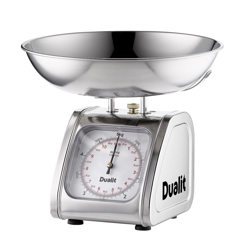DUALIT 87006 Küchenwaage / Edelstahl / große Anzeige bis 5 Kg ...