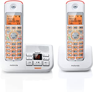 Motorola DECT 6.0 Cordless Big Backlit Button Phone with 2 Handsets