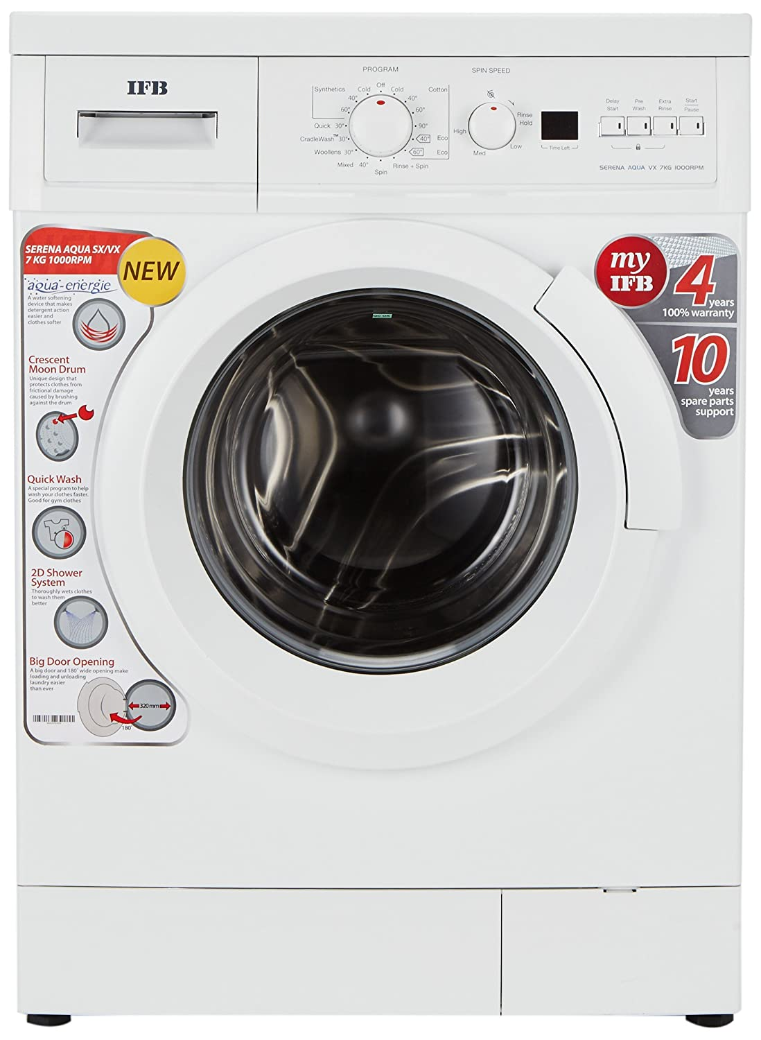 IFB 7 kg Fully-Automatic Front Loading Washing Machine (Serena Aqua VX LDT,  White): Amazon.in: Home & Kitchen