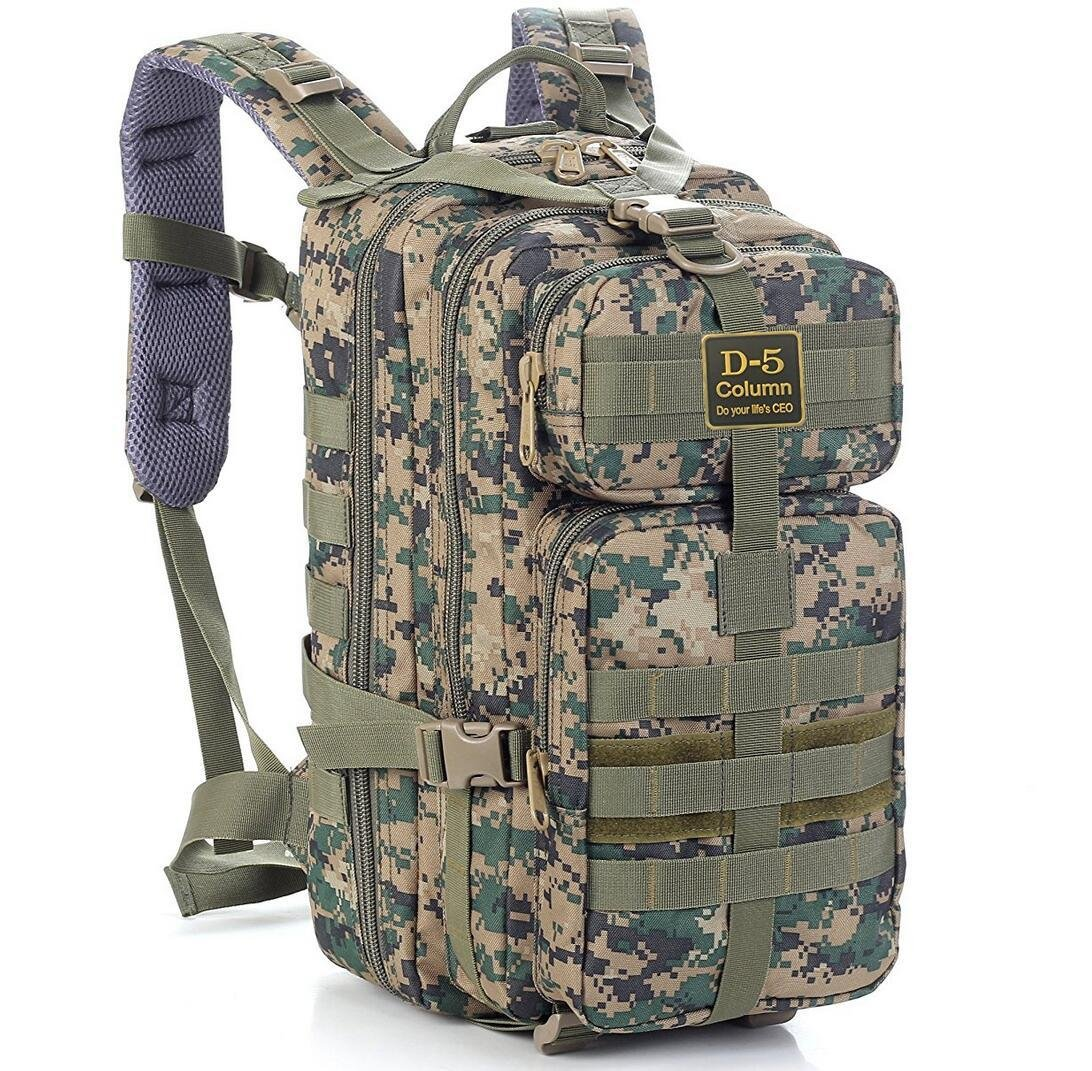 Hiking Backpacks Military Bag Military Backpack Military Rucksack,Rucksack Military Camouflage Backpack Tactical Backpack For Camping Trekking green JIXIA