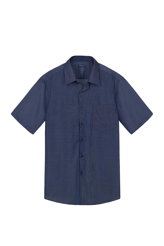 TALLA 3XL. Lavecchia Camisa Formal - Cuadrados - para Hombre