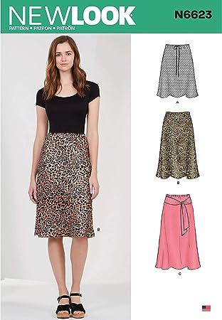 New Look N6623 - Patrones de costura para falda de mujer en tres ...