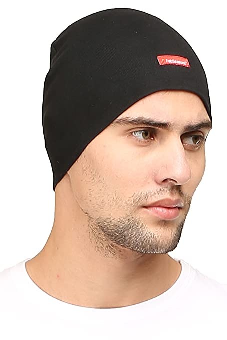 Buy FabSeasons Cotton Skull Cap (Black) Online at Low Prices in ... 9dbe93dda92