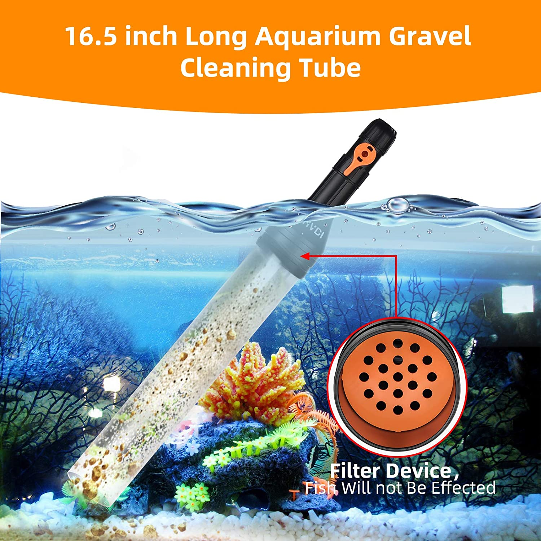 50ft No-Spill Pump Maintenance/Tool with Flow Control Valve Auto Siphon Vacuum/ Aquarium Water Changer Kit HVDI/Fish Tank Gravel Cleaner