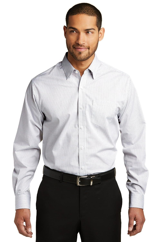 Port Authority Mens Micro Tattersall Easy Care Shirt