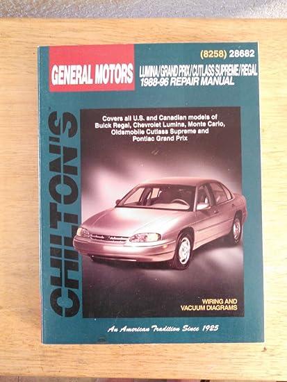 amazon com: 1988-96 chilton repair manual - gm intermediates - #28682:  everything else
