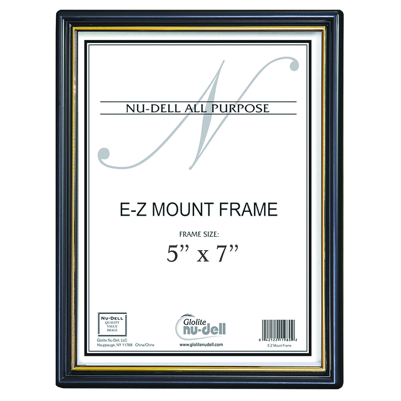 Amazon 5 X 7 Ez Mount Document Frame Plastic Face Black