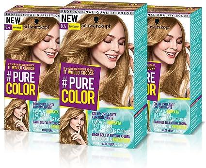 Schwarzkopf Pure Color Tinte Permanente 8.4 Sunkissed: Amazon ...