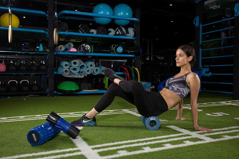 Rodillo de Espuma de Masaje Fitness Terapia Deportiva Firme y Suave Tejido Profundo Yoga Herramienta de Masaje el/ástica para Ejercicio Alivio del Muslo musculos Pilates Estiramiento