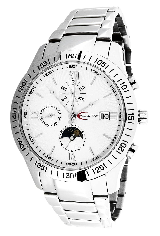Creactive Herren-Armbanduhr Chronograph Automatik Analog Edelstahl - CA120101