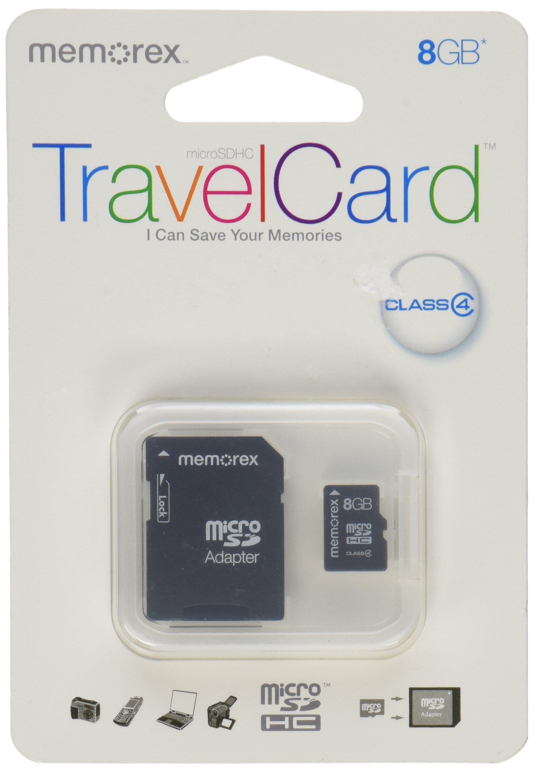 Memorex 8 GB Micro SDHC Class 4 Flash Memory Card 32020022227