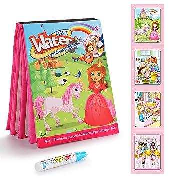 Fansteck Agua Dibujo Pintura Libro Mágico De Colorear Para Niños Libros Infantiles De Agua Doodle Juguete De Watercolor Drawing Book Regalo