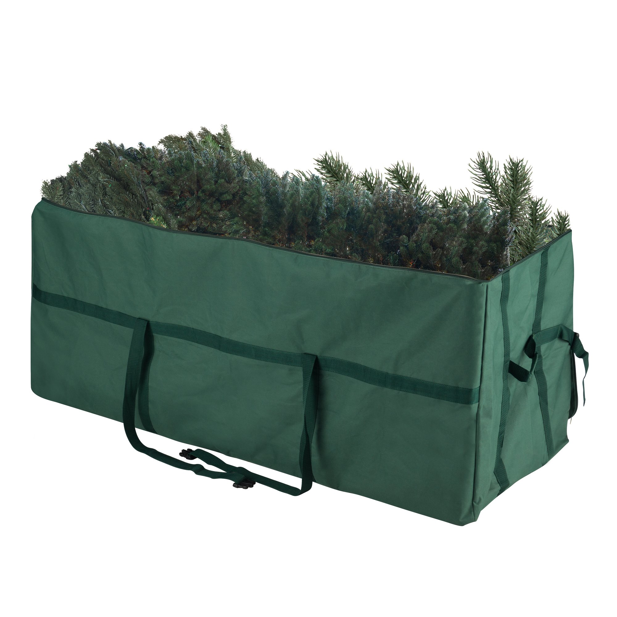 Tiny Tim Totes 83-DT5584 Heavy Duty | Premium Canvas Christmas Storage Bag | Large for 7.5 Foot Tree | Green