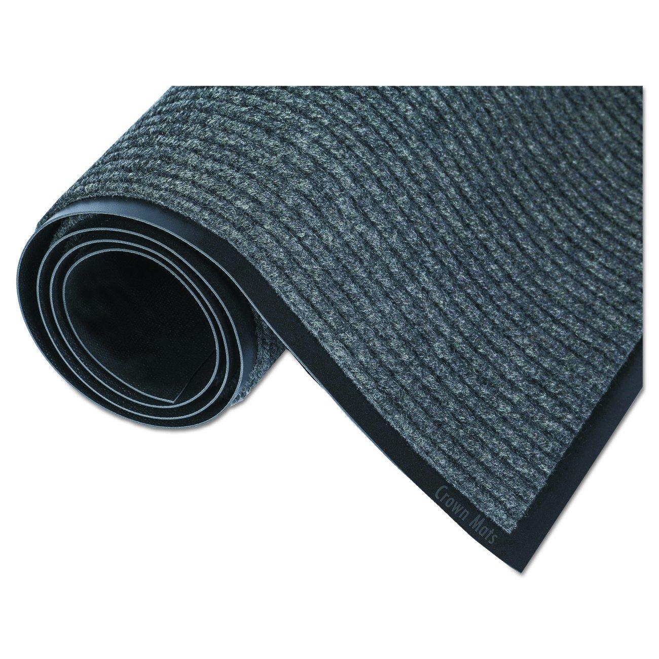 Crown NR0310GY Needle Rib Wipe Scrape Mat, Polypropylene, 36 x 120, Gray