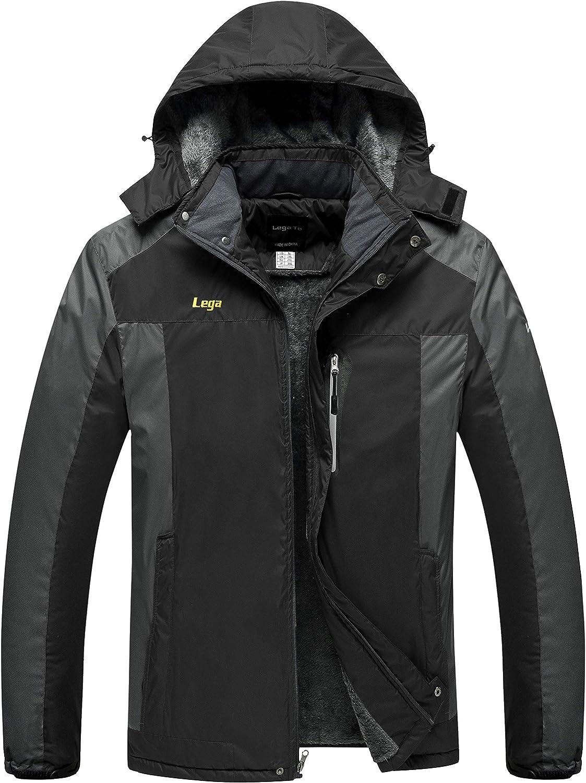 Mens Ski Jacket Winter Coats Waterproof Insulated Windproof Winter Rain Coat