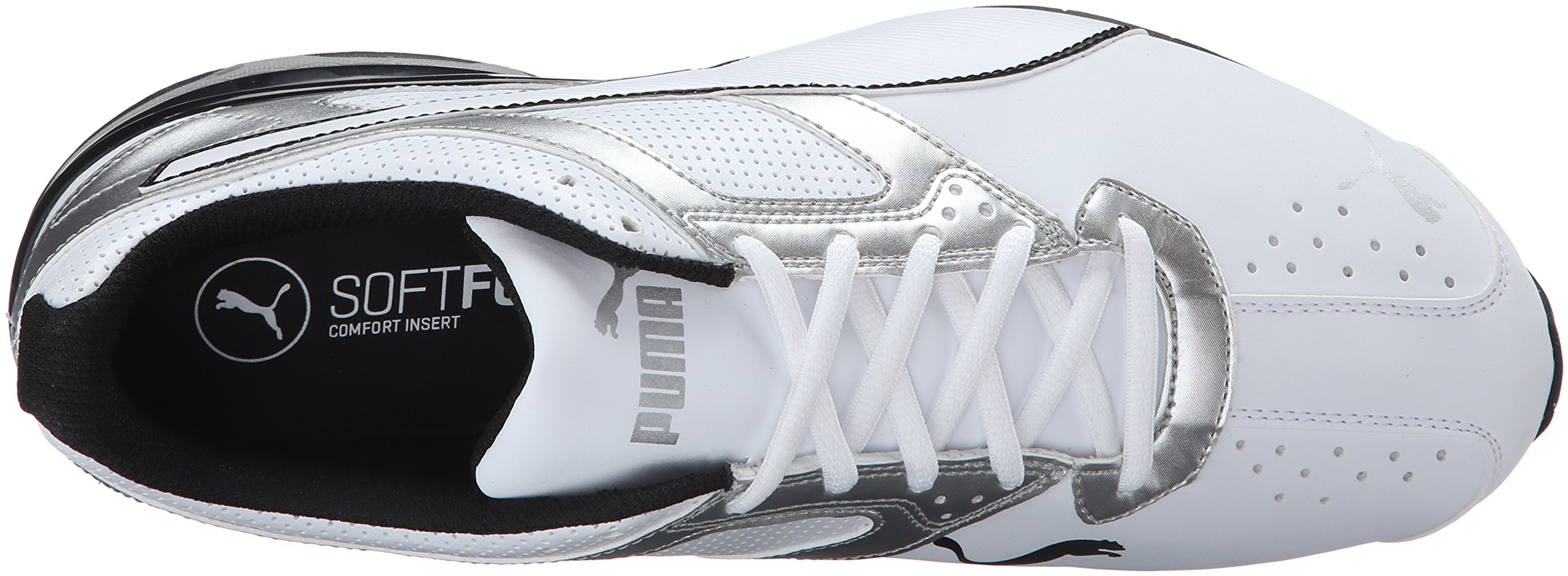 PUMA Men's Tazon 6 FM Puma White/ Puma Silver Running Shoe - 7.5 D(M) US by PUMA (Image #8)